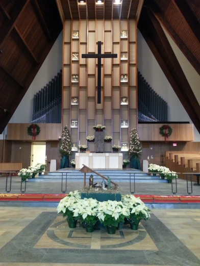 The sanctuary at Christmas