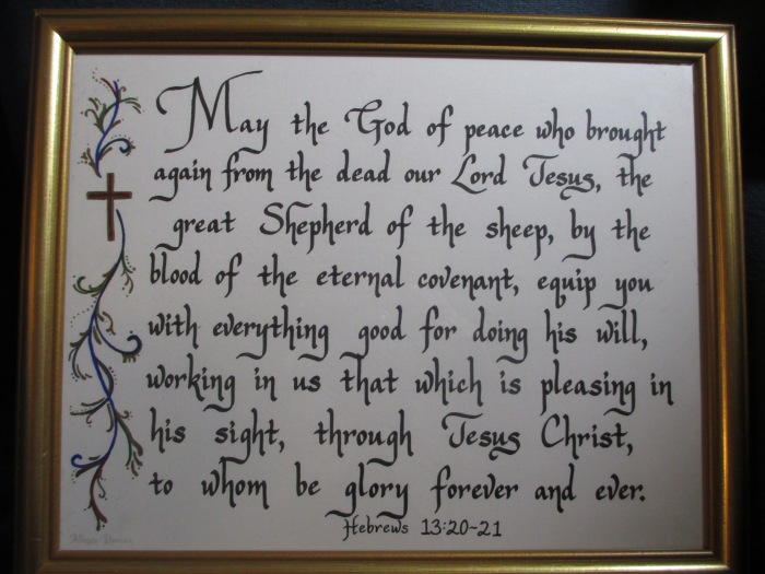 Calligraphy - Hebrews Bible verse