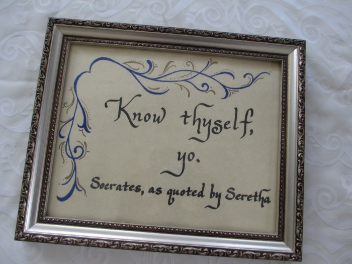 Snarky calligraphy!