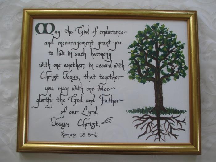 Wedding gift calligraphy