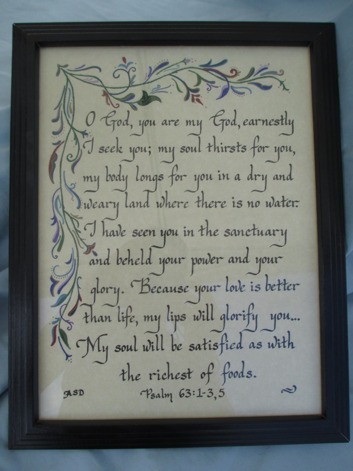 Psalm 63 calligraphy
